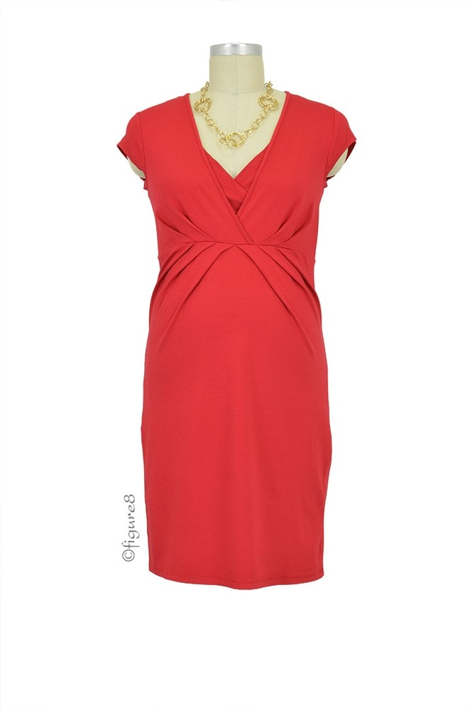 Queen Mum Nursing Dress (Dark Red)
