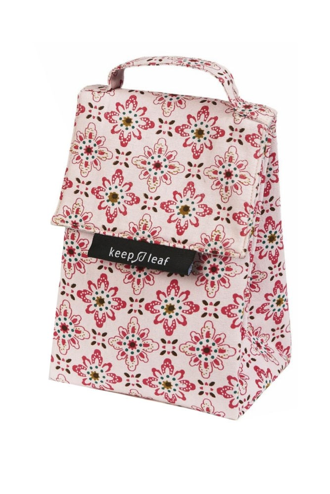 Keep Leaf Insulated Organic Lunch Tote (Floral)