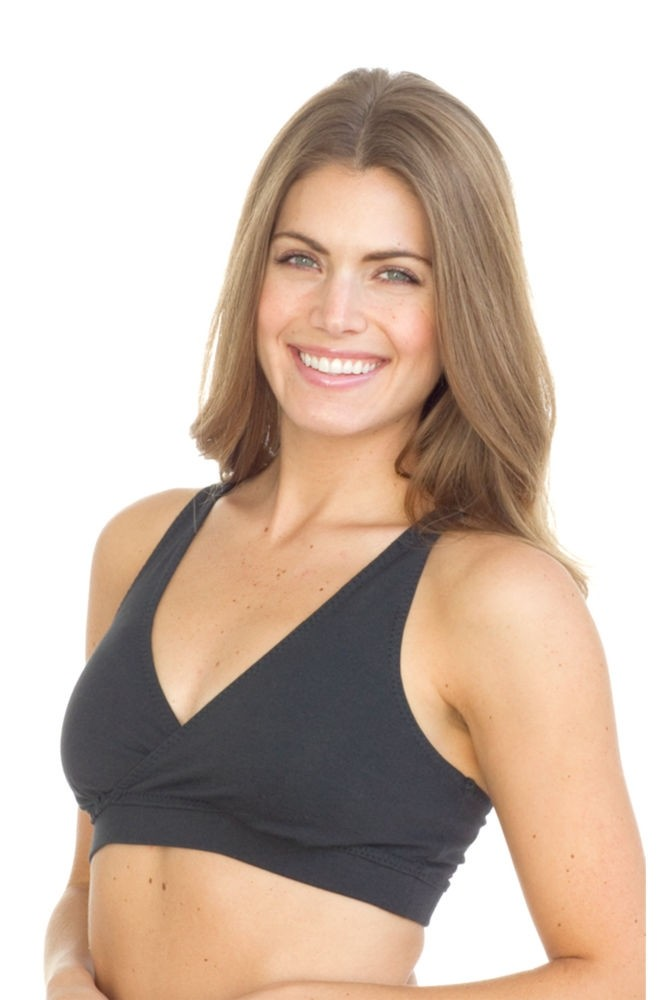 Majamas Organic Padded Sporty Bra (Black)