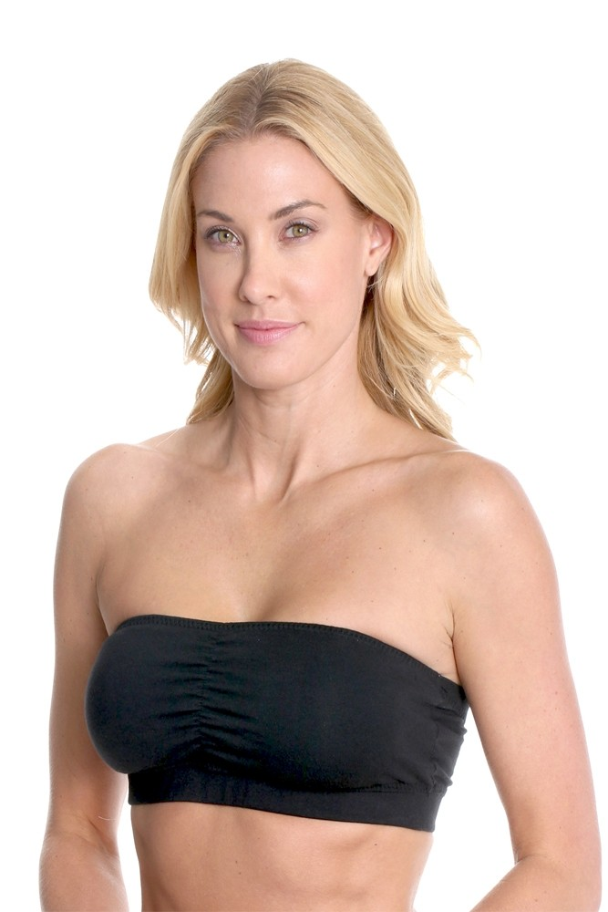 La Leche League Seamless Strapless Nursing Bra in Black by La ...