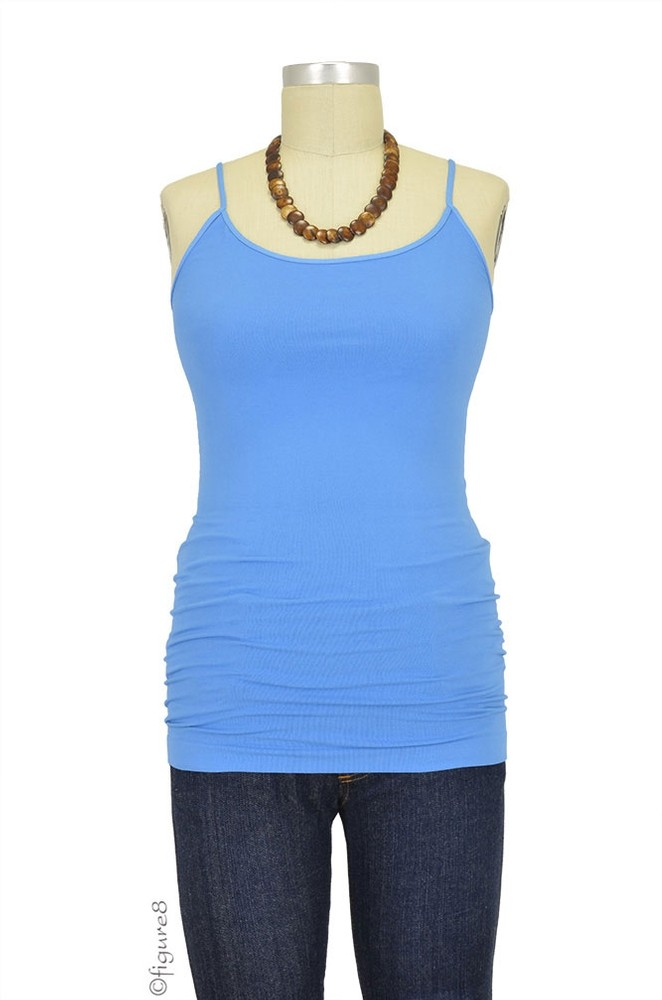 Basic Seamless Maternity Cami (Periwinkle Blue)