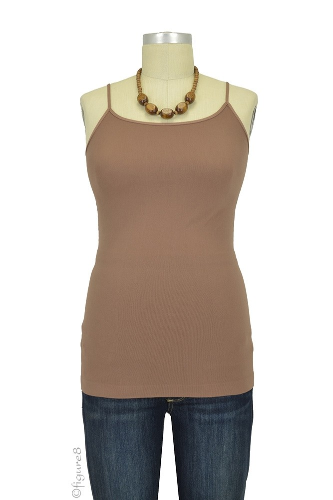 Basic Seamless Maternity Cami (Taupe)