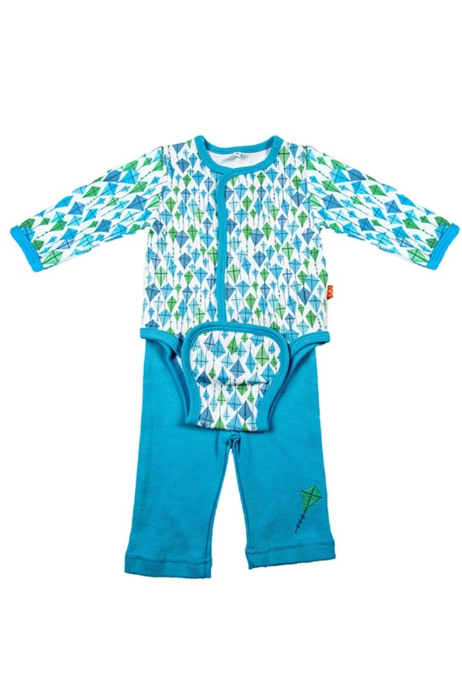 Magnificent Baby Boy's Burrito Set (Blue Kites)