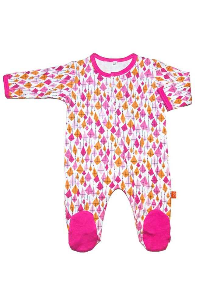 Magnificent Baby Girl's Footie (Pink Kites)