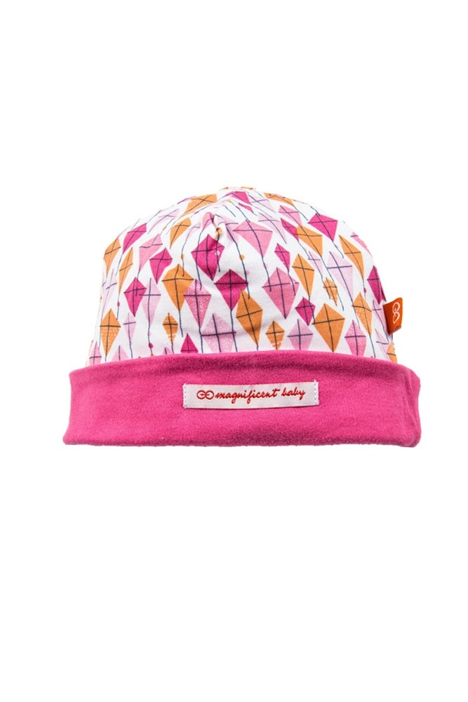 Magnificent Baby Magnetic Me™ Baby Girl Cap (Pink Kites)