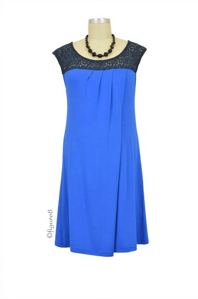 Susie Nursing Dress (Electric Blue)