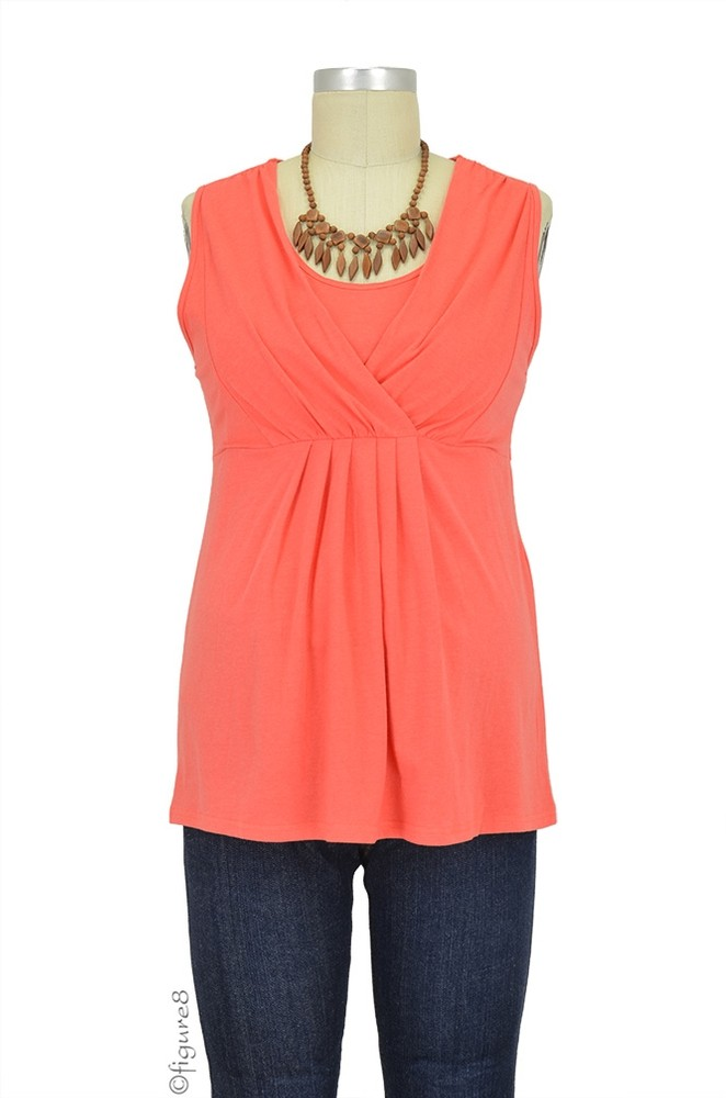 Anne Bamboo Nursing Top (Orange)