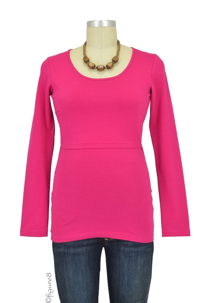 Boob Organic Long Sleeve Nursing Top (Fuchsia)