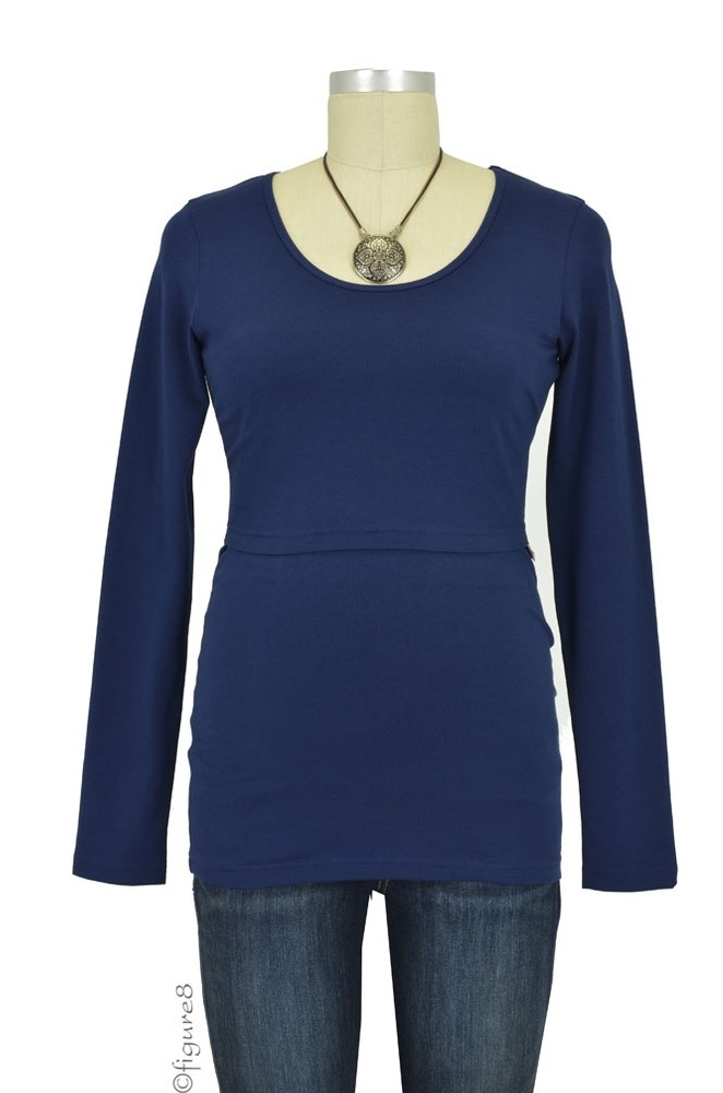 Boob Organic Long Sleeve Nursing Top (Navy)