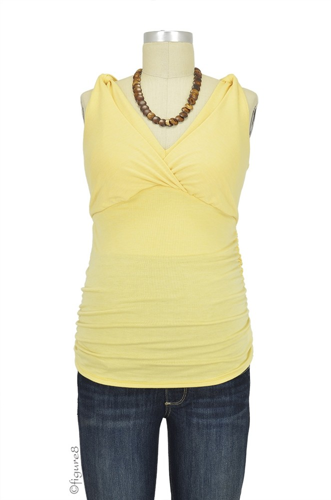Kate Shirred Nursing Tank (Banana)