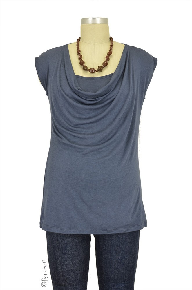 The Jolie Maternity & Nursing Top (Gray)