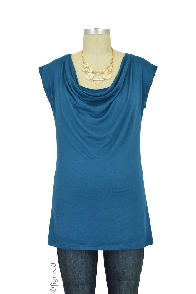 The Jolie Maternity & Nursing Top (Teal)