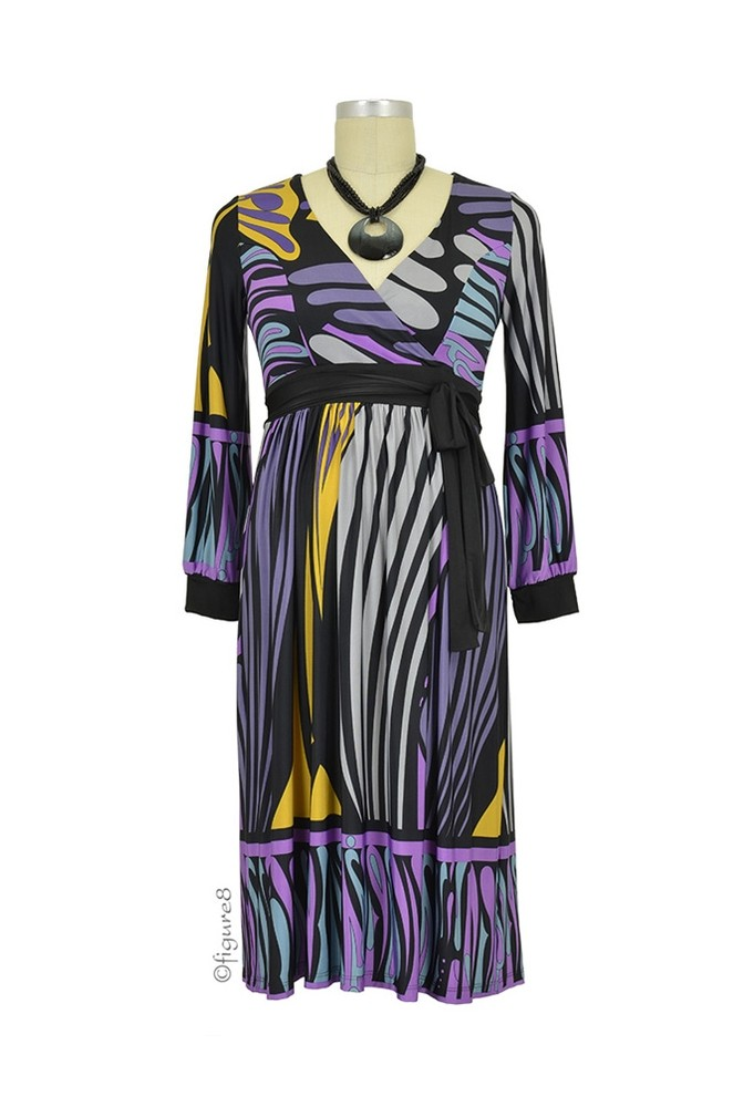 Ainsley Maternity Dress (Multi-Color Abstract)
