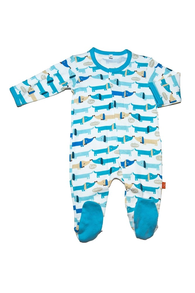 Magnificent Baby Magnetic Me™ Boy's Footie (Hello Hotdog)