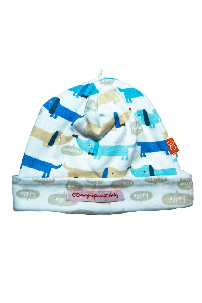 Magnificent Baby Magnetic Me™ Reversible Baby Boy Cap (Hotdog)