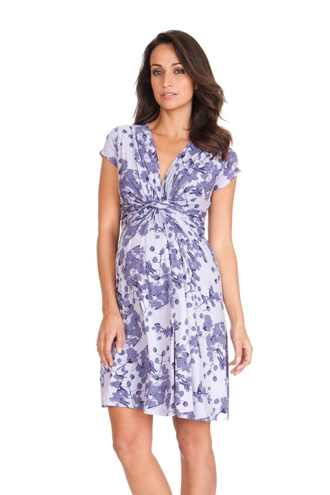 a22f9ab507 Seraphine Blossom Short Sleeve Maternity Dress in Blossom Print