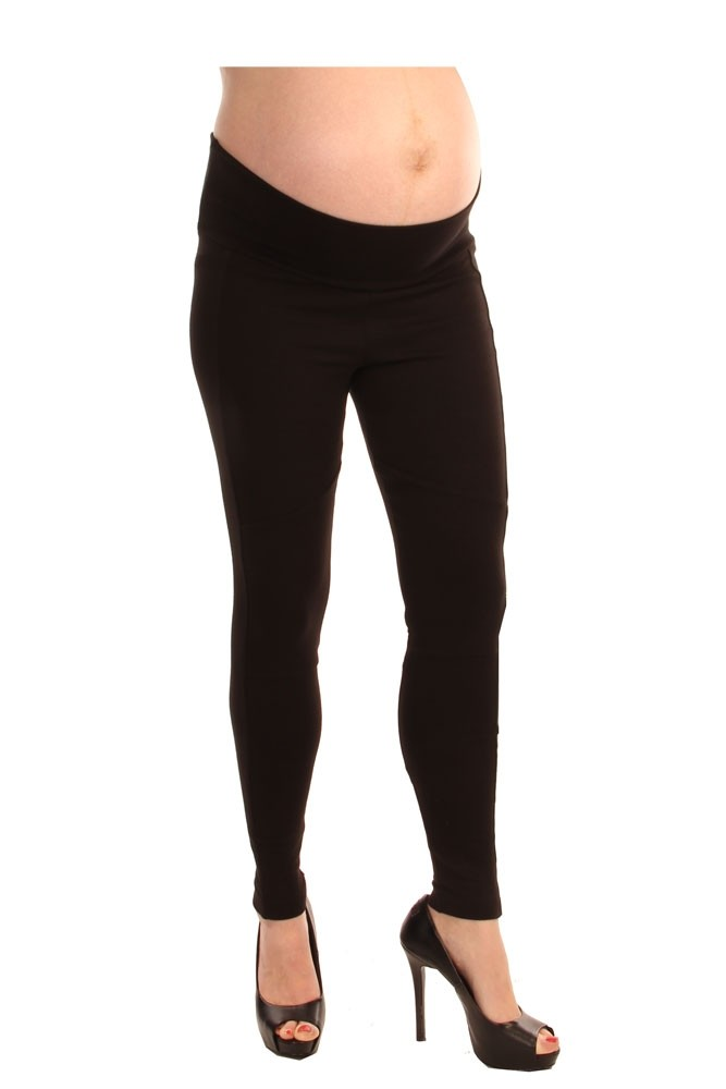 Ponte Riding Maternity Legging (Black)