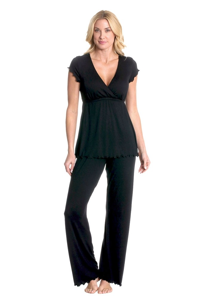 Majamas Genna Maternity & Nursing PJ Set (Black)