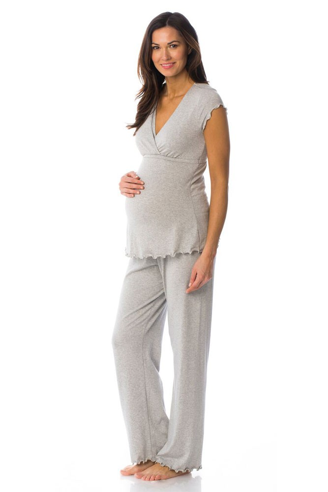 Majamas Genna Nursing PJ Set (Pebble)