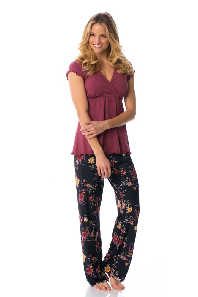 Majamas Genna Maternity & Nursing PJ Set (Marron)