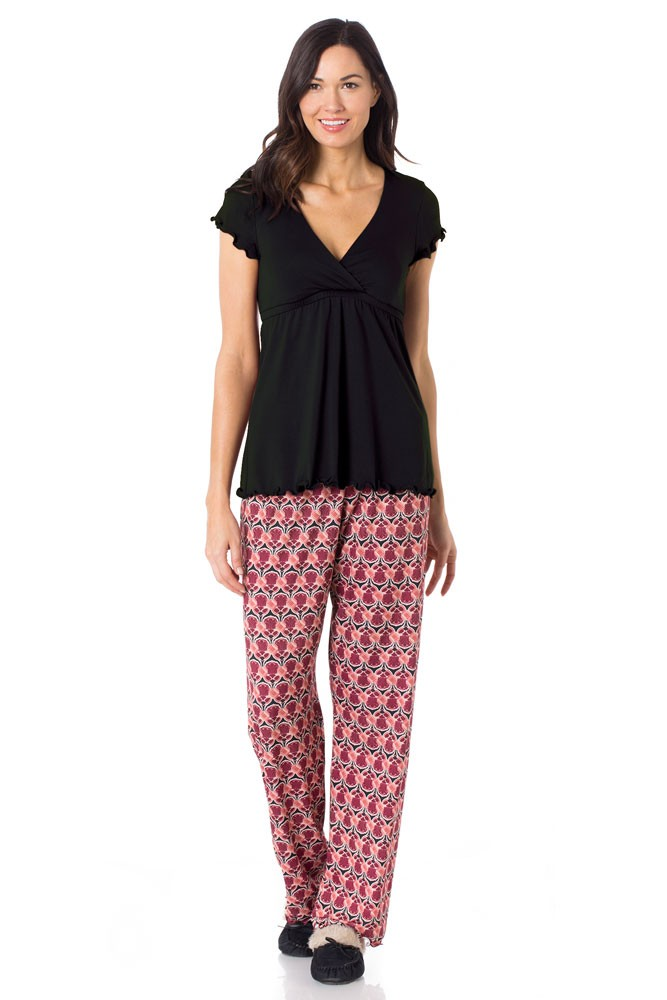 Majamas Genna Maternity & Nursing PJ Set (Deco)