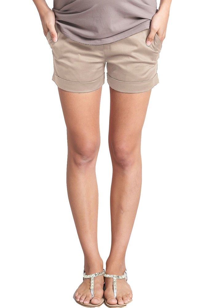 Jacob Maternity Sateen Short Shorts (Warmglow)