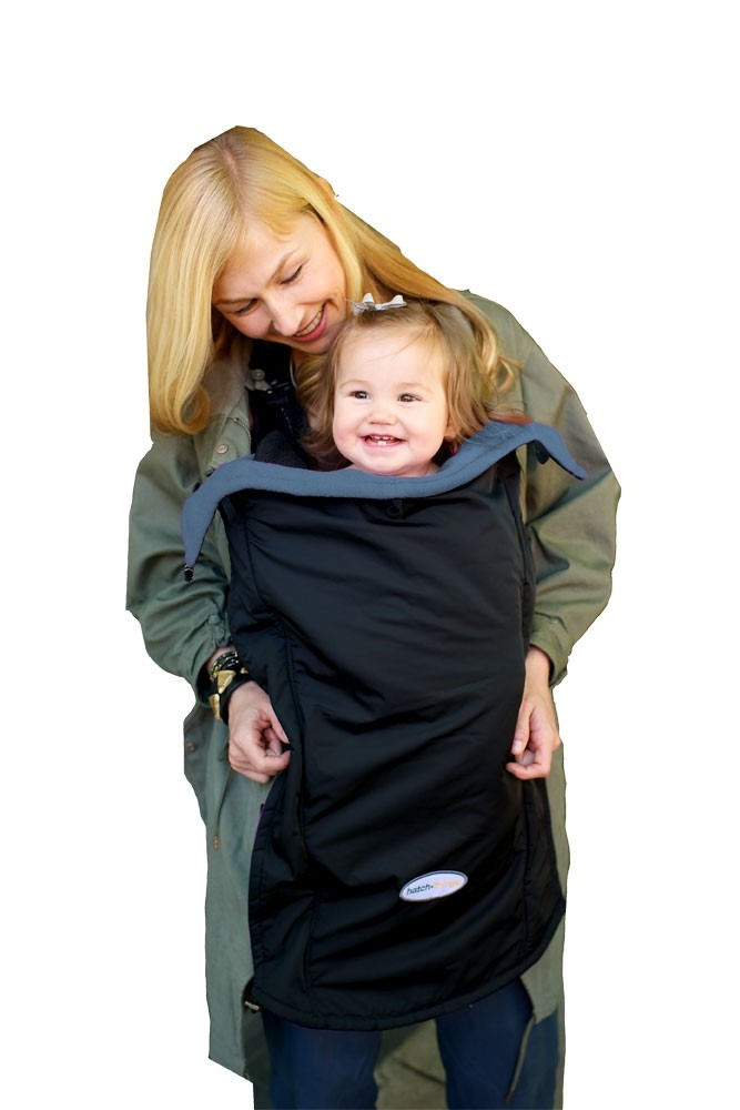 Hatch Things Cold Snap Universal Coat Extension Baby Cover (Black with Grey)
