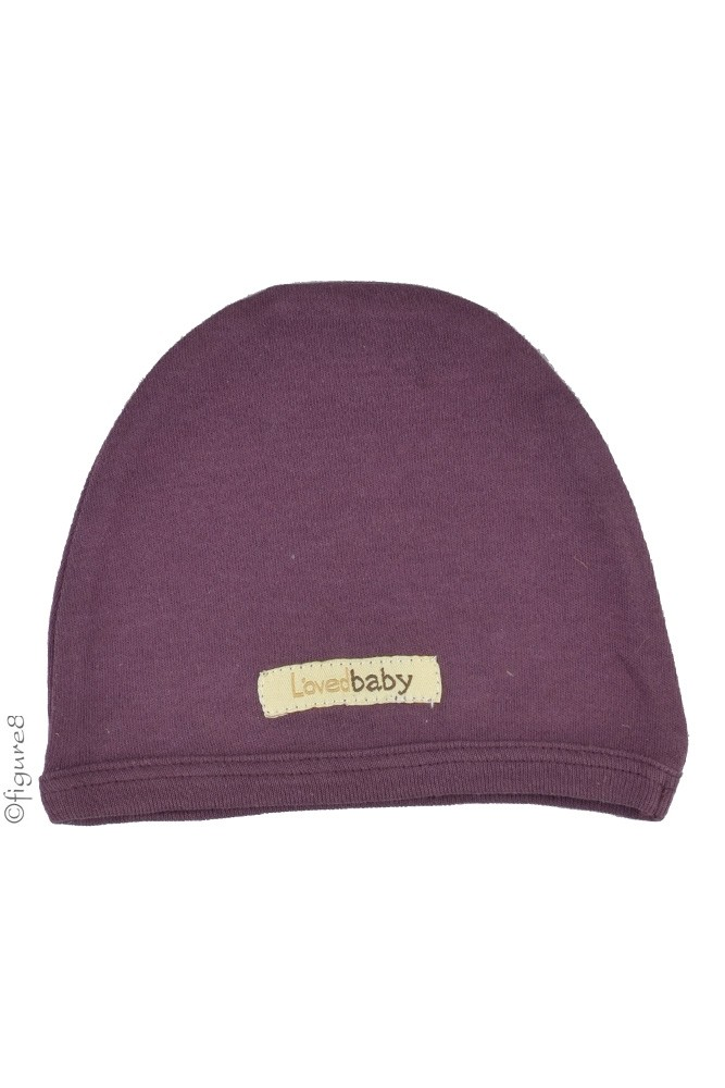 L'ovedbaby Organic Cotton Cute Baby Cap (Eggplant)