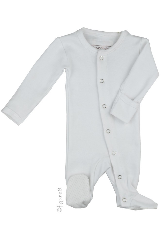 L'ovedbaby Organic Gl'oved-Sleeve Overall (White)
