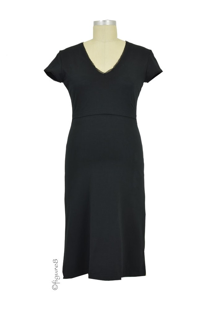 Boob Designs Jane Nursing Night Dress (Black)