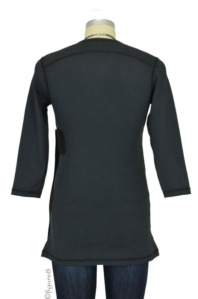 Nuroo Pocket Baby Wearing Top In Black