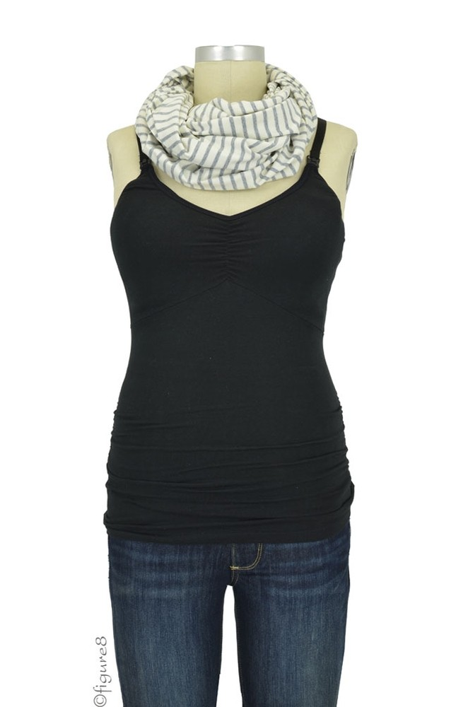 Nuroo Nursing Scarf In Gray Stripe By Nuroo With Free Shipping