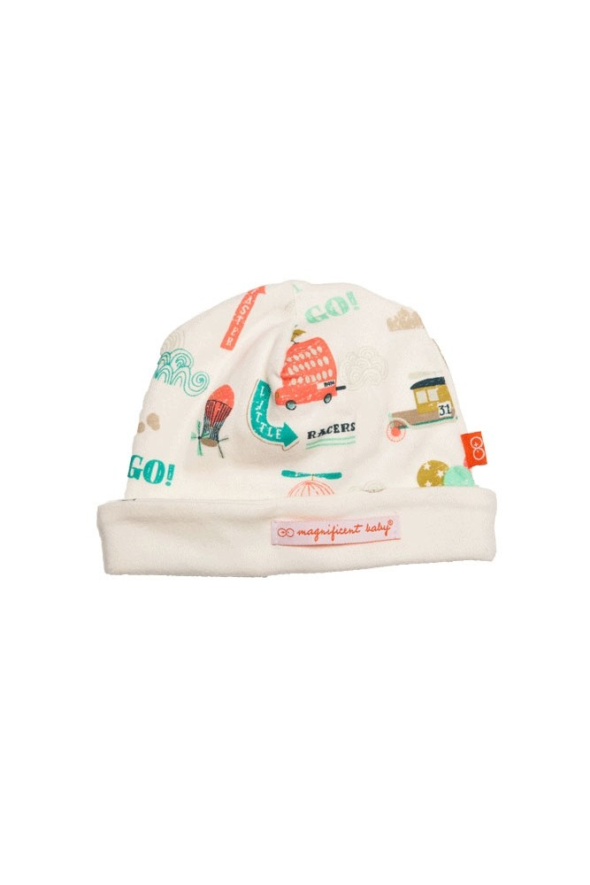 Magnificent Baby Reversible Baby Boy Cap (Vintage Transport)
