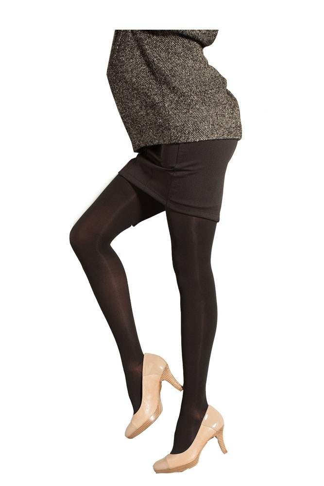 Preggers Maternity Compression Pantyhose (15-20 mm Hg)- Long (Black)