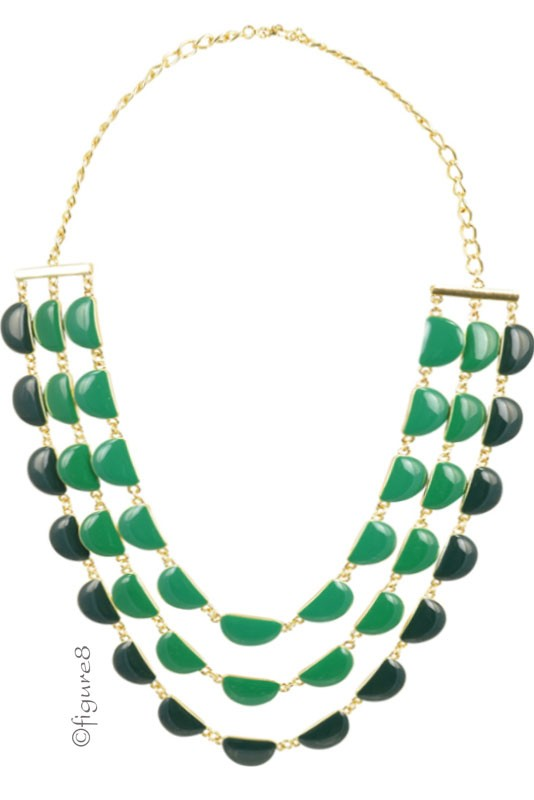 Quinn Layered Necklace (Green)