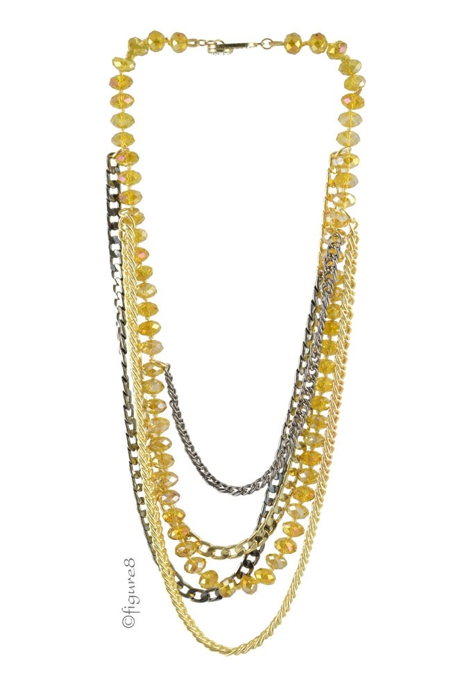 Brooklyn Layering Necklace (Yellow)
