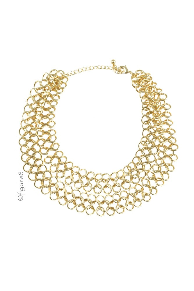 Hannah Gold Link Necklace (Gold)