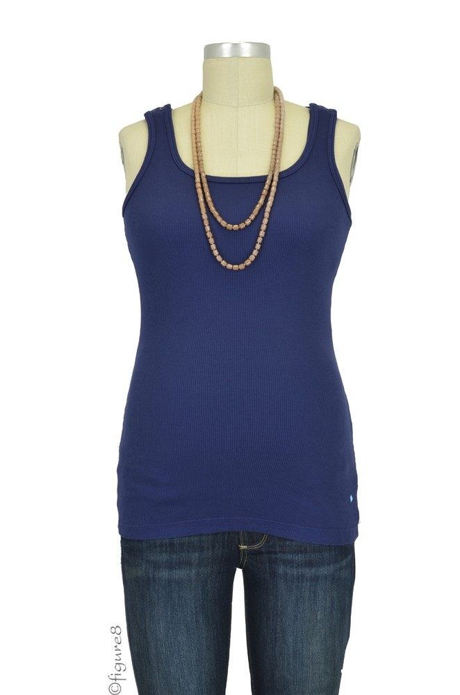 Bun Ultimate Easy Cotton Nursing Tank (Navy)