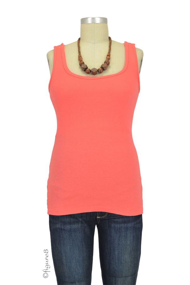 Bun Ultimate Easy Cotton Nursing Tank (Coral)