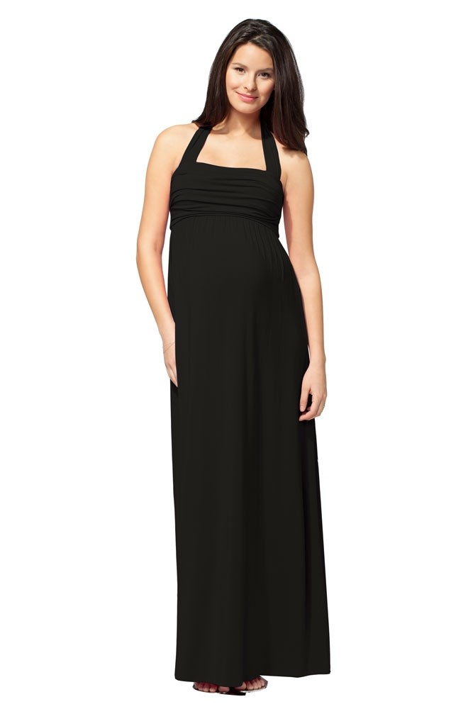 Ingrid & Isabel Convertible Maxi Maternity Dress (Black)