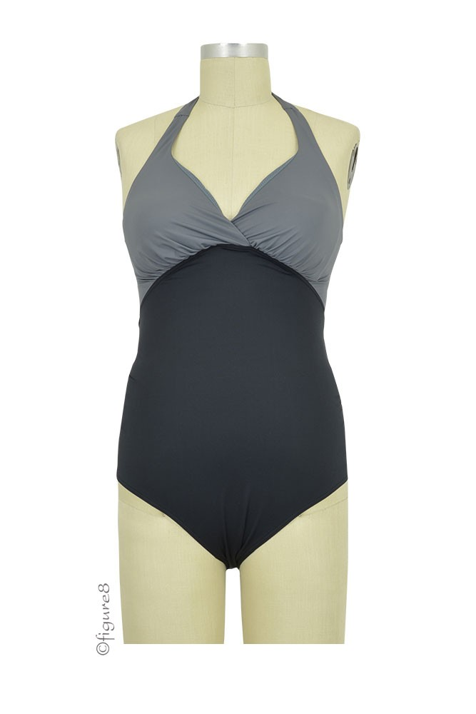Cache Coeur Eden Maternity & Nursing Friendly One-Piece Bathing Suit (Black)