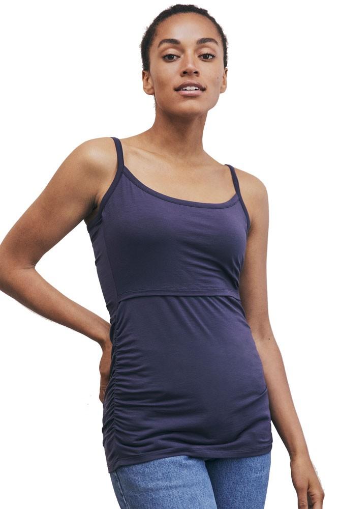 894aafe7a Boob Design Flatter Me Ruched Maternity   Nursing Singlet in Soft Ink