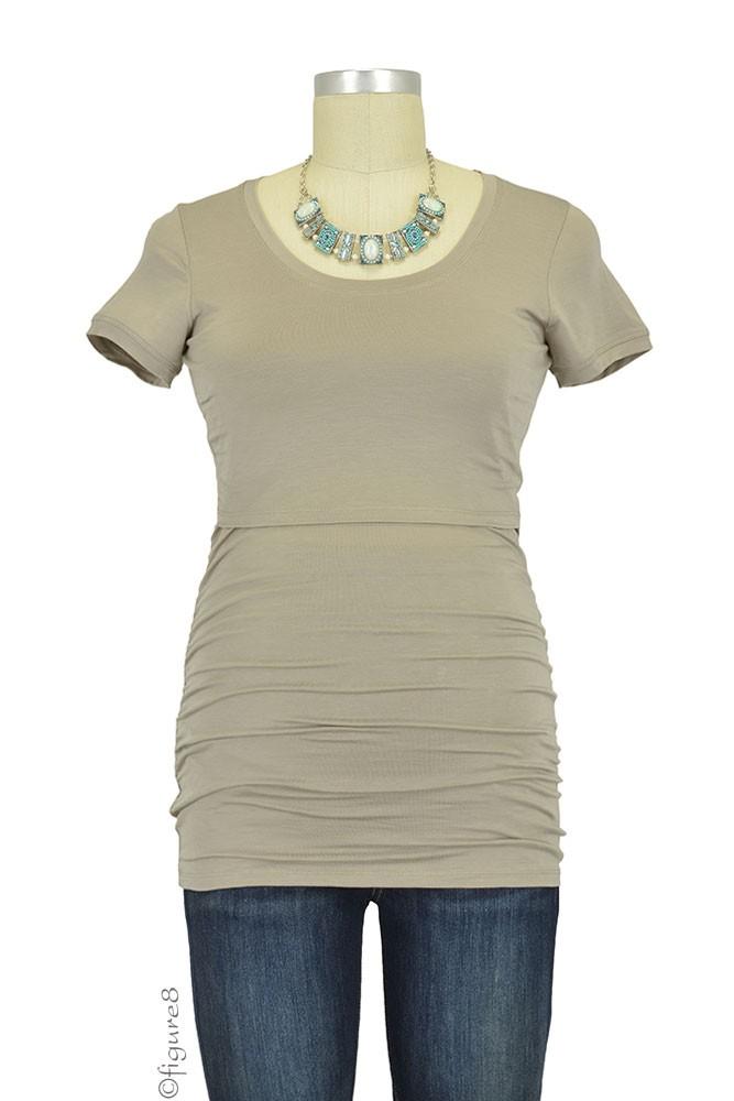 Boob Design Flatter Me Short Sleeve Ruched Maternity ...