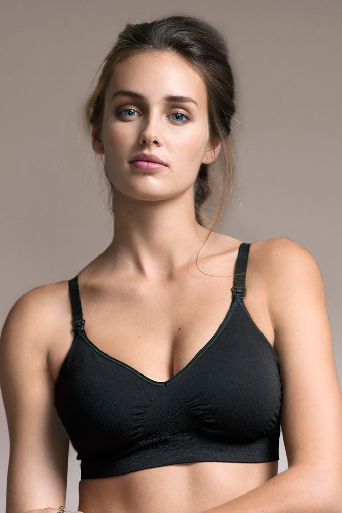 5273a7fc1cd Boob Design Fast Food Padded T-Shirt Nursing Bra in Black
