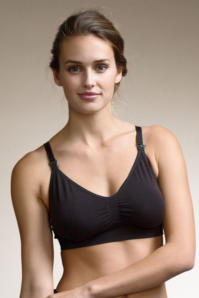53b9424696 Boob Design Fast Food Warming Wool Nursing Bra in Black