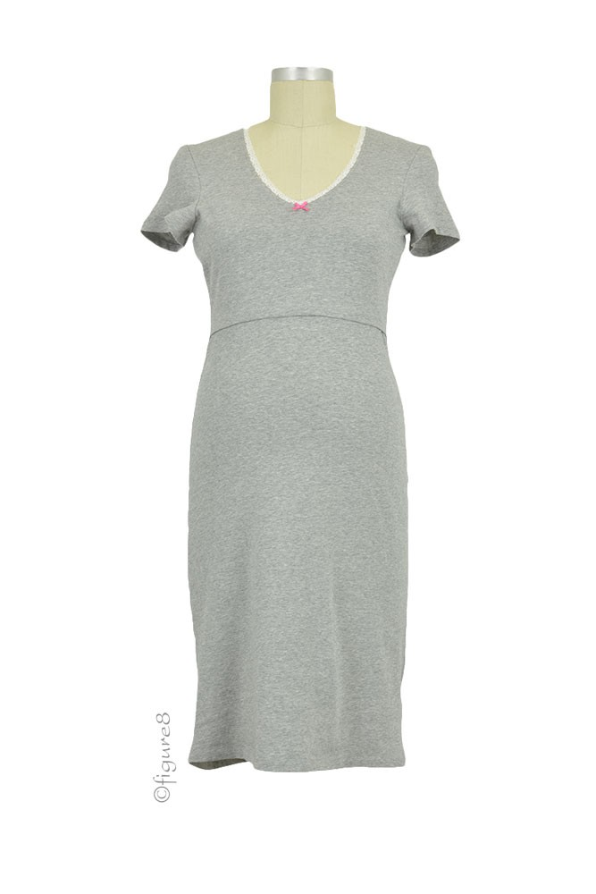 Boob Design Organic Cotton Nursing Night Dress (Grey Melange)