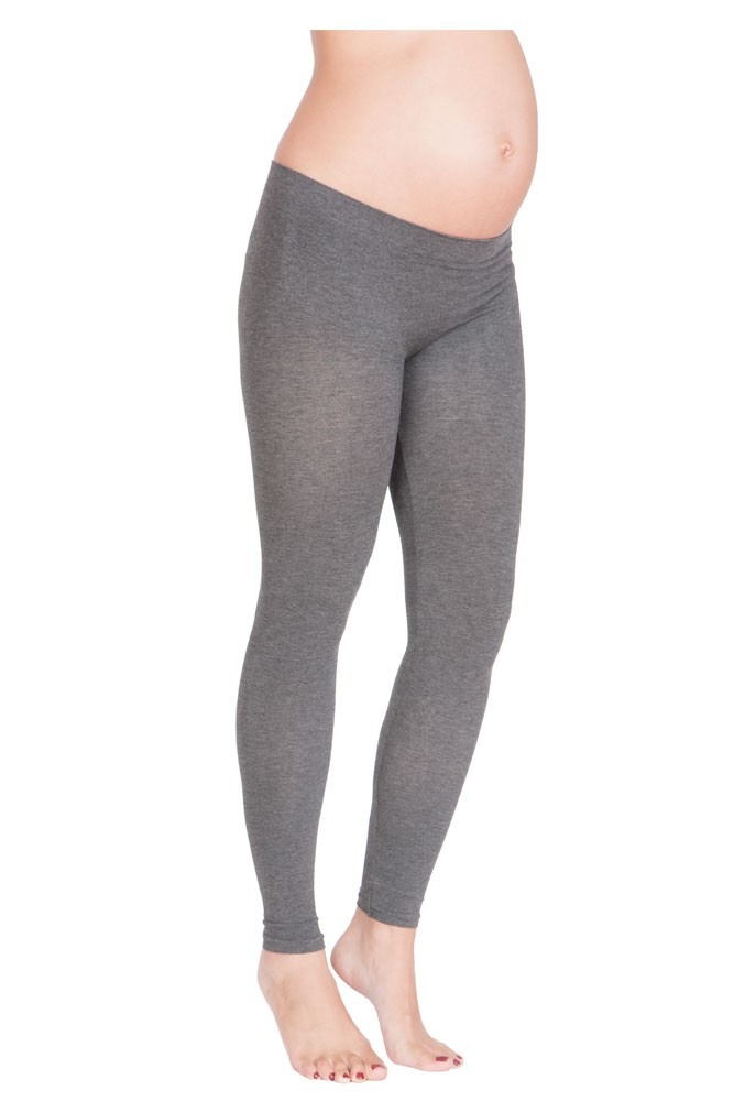 074d0445afa89 Seraphine Tammy Under Bump Bamboo Maternity Leggings in Grey
