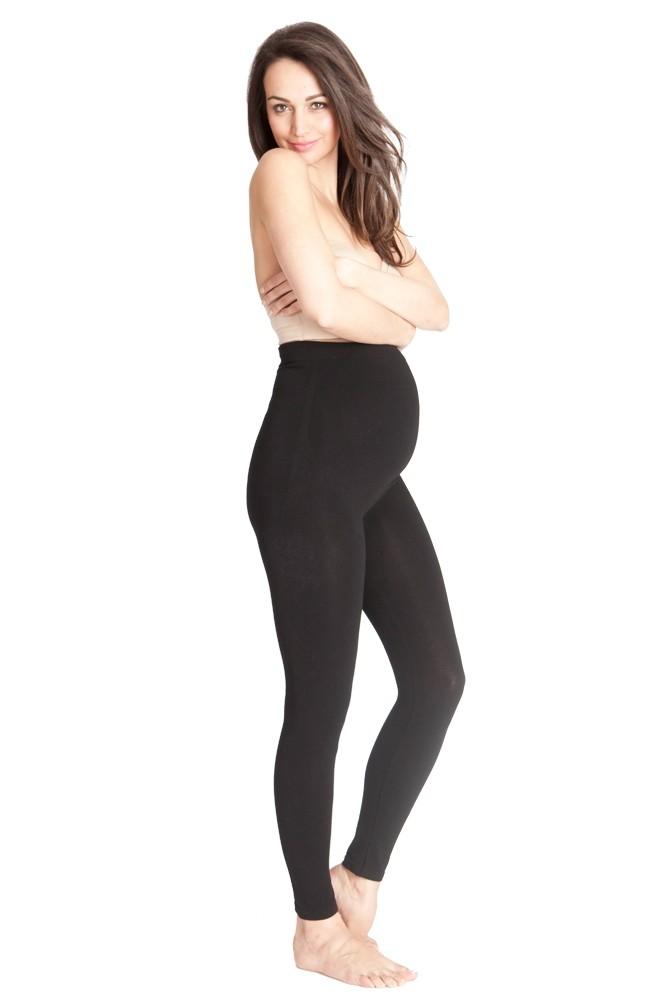Seraphine Tammy Over Bump Bamboo Maternity Leggings In Black