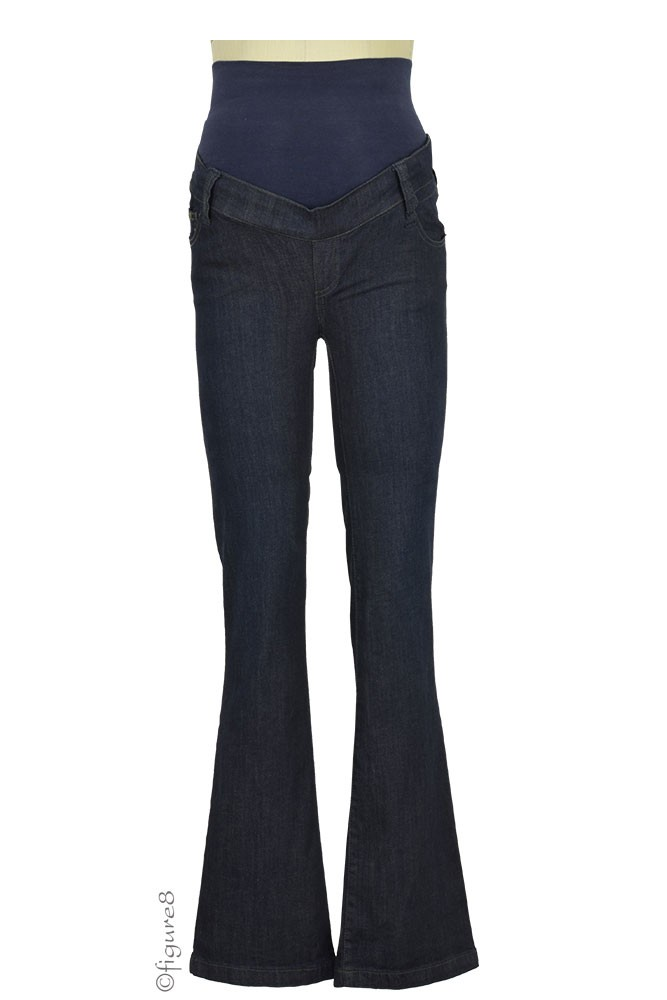 Dallas Straight-Leg Maternity Jeans in Dark Denim by Noppies