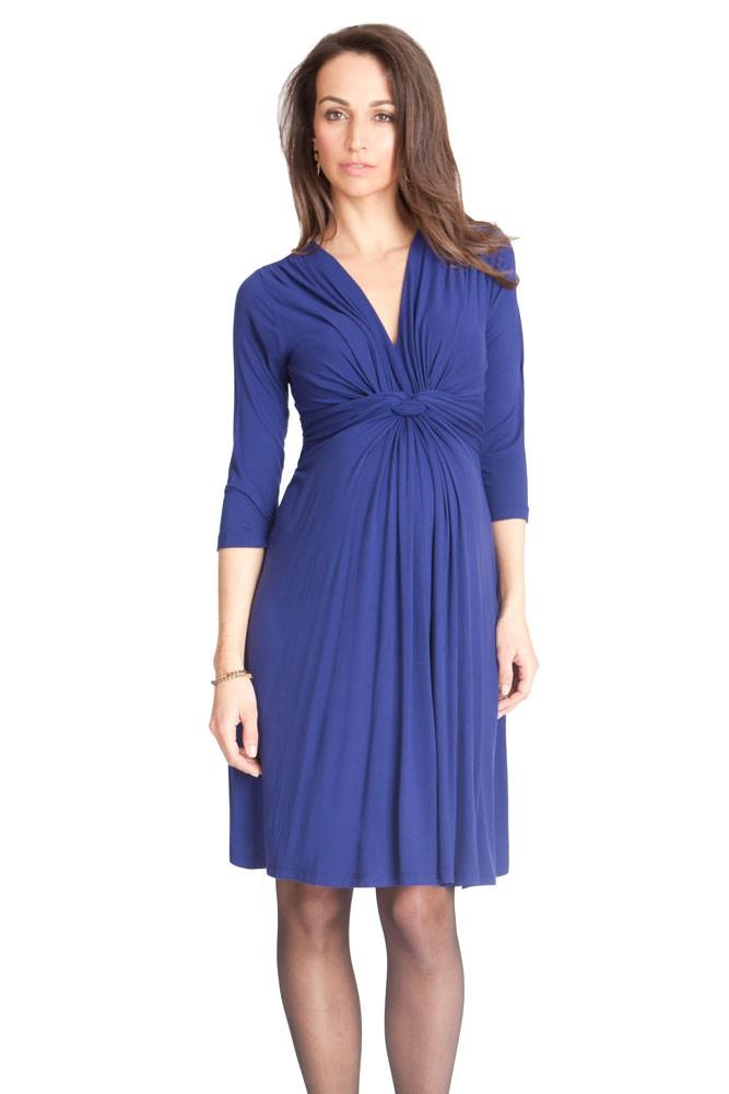Seraphine Jolene 3 4 Sleeve Maternity Dress in Royal Blue